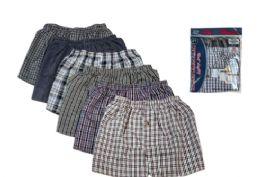 36 of Men Woven Plus Size Boxer Shorts Size 3XL