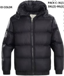 24 Bulk Mens Bubble Winter Coat Plus Sizes