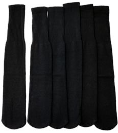 180 Units of Yacht & Smith 28 Inch Men's Long Tube Socks, Black Cotton Tube Socks Size 10-13 - Mens Tube Sock