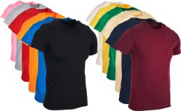 144 Units of Mens Cotton Short Sleeve T Shirts Mix Colors And Mix Sizes - Apparel Gear