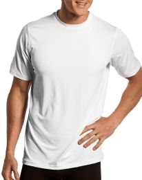 60 Units of Mens Cotton Short Sleeve T Shirts Solid White Size L - Mens Clothes for The Homeless and Charity