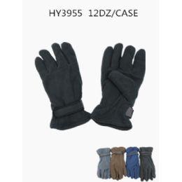 72 Bulk Mens Fleece Winter Gloves