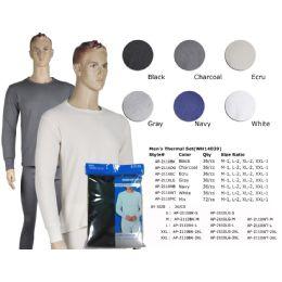36 Units of Mens Thermal Set In Ecru - Mens Thermals