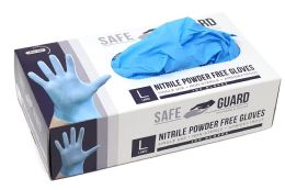 1000 Units of Nitrile Powder Free Exam Gloves Single Use Medical Graded Size L - PPE Gloves
