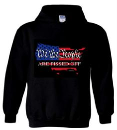 12 Units of PISSED OFF AMERICA Black Color Hoody - Mens Sweat Shirt