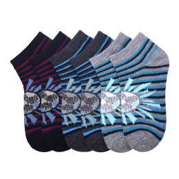 432 Units of POWER CLUB SPANDEX SOCKS 6-8 - Boys Ankle Sock
