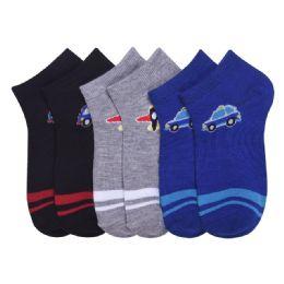 432 Units of POWER CLUB SPANDEX SOCKS (TRANS) 6-8 - Boys Ankle Sock