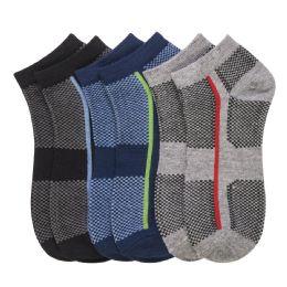 432 Units of POWER CLUB SPANDEX SOCKS (UNITED) 6-8 - Mens Ankle Sock
