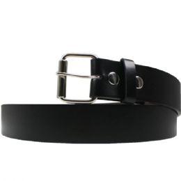 36 Units of Small Black Plain Belt - Belts
