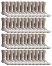 24 Units of Yacht & Smith Kids Cotton Crew Socks White Size 6-8 - Boys Crew Sock