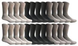 24 Units of Yacht & Smith Women's Sports Crew Socks, Size 9-11, Assorted - Womens Crew Sock