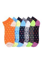432 Units of SPAK L.WEIGHT SPANDEX SOCKS 6-8 - Girls Ankle Sock