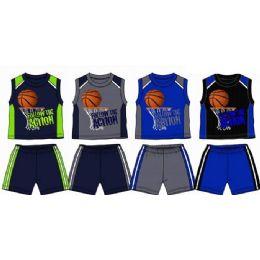48 Units of Spring Boys Close Mesh Short Sets 4-7 - Boys Shorts