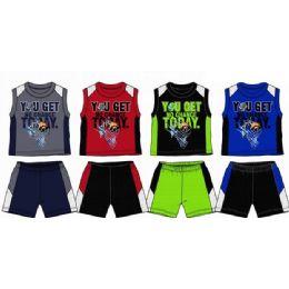 48 Units of Spring Boys Close Mesh Short Sets Size 4-7 - Boys Shorts