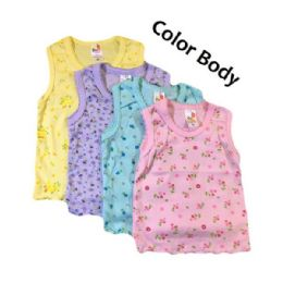 36 Units of Strawberry Girl Singlet, Color Body - Baby Apparel
