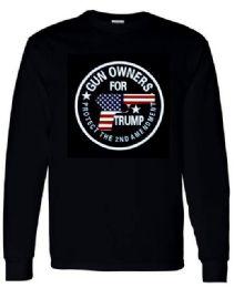 6 Units of Trump Gun Owner Black Long sleeve shirts Size XXL - Mens T-Shirts