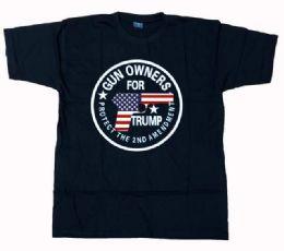 12 Units of Trump Gun Owner Black Tee Plus Size - Mens T-Shirts
