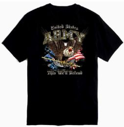 12 Units of US Army This Well Defend With Crest - Mens T-Shirts