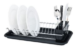 12 Units of Home Basics Compact Dish Drainer - Dish Drying Racks