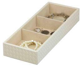 6 Wholesale Home Basics 3-Compartment Jewelry Organizer