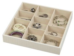 6 Wholesale Home Basics 9-Compartment Jewelry Organizer