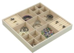 6 Wholesale Home Basics 15-Compartment Jewelry Organizer