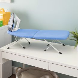 6 Units of Home Basics Foldable Tabletop Ironing Board With Machine Washable Ironing Board Cover And BuilT-In Iron Rest - Laundry  Supplies