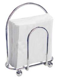 12 Units of Home Basics Chrome Napkin Holder - Napkin and Paper Towel Holders