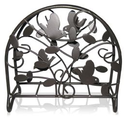 12 Units of Home Basics Birdsong Collection Steel Napkin Holder, Dark Brown - Napkin and Paper Towel Holders
