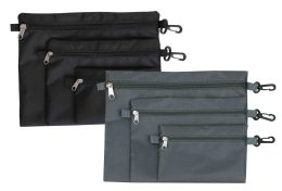 24 Units of Home Basics 3 Piece Travel Pouch Set - Travel & Luggage Items