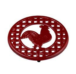 6 Units of Home Basics Cast Iron Rooster Trivet - Coasters & Trivets