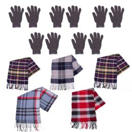 96 Units of Winter Gloves And Bulk Scarves Combo Pack - Winter Gear