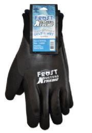 12 Wholesale Winter Work Gloves Waterproof In Black Size XLarge