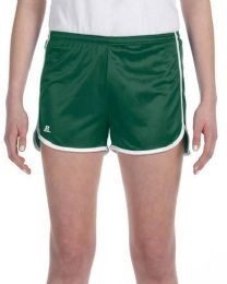 36 of Women's Russell Athletic Active Shorts In Dark Green And White,size Medium