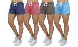 72 of Women's Soft Fleece Lounge Shorts Assorted Sizes In Navy