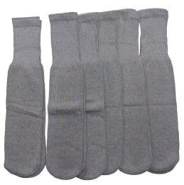 180 Units of Women Solid Grey Tube Sock Size 9-11 - Women's Tube Sock