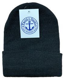 144 Units of Yacht & Smith Black Unisex Winter Warm Beanie Hats, Cold Resistant Winter Hat Bulk Buy - Bulk Hats for Homeless and Charity
