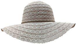 Yacht & Smith Cotton Crochet Sun Hat Soft Lace Design, Rose - Sun Hats