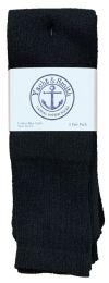4320 Units of Men's Cotton 28 Inch Tube Socks, Referee Style, Size 10-13 Solid Black Bulk Buy - Men's Socks for Homeless and Charity