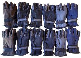 12 Bulk Yacht & Smith Men's Fleece Gloves