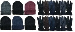 288 Wholesale Yacht & Smith Men's Winter Care Set, Fleece Gloves And Winter Beanie Set