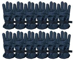 72 Bulk Yacht & Smith Men's Winter Warm Ski Gloves, Fleece Lined With Zipper Pocket