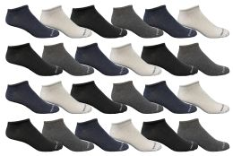480 Units of Yacht & Smith Mens Cotton Low Cut No Show Loafer Socks Size 10-13 Solid Assorted - Men's Socks for Homeless and Charity