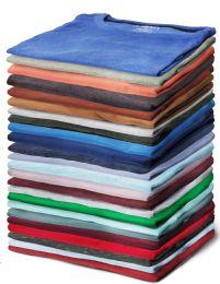 24 Units of Yacht & Smith Mens Cotton Short Sleeve T Shirts Mix Colors Size Medium - Mens T-Shirts