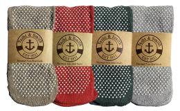 36 Units of Yacht & Smith Non Slip Gripper Bottom Womens Winter Thermal Slipper Tube Socks Size 9-11 - Womens Thermal Socks