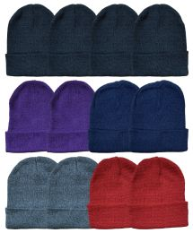 60 of Yacht & Smith Unisex Winter Knit Hat Assorted Colors