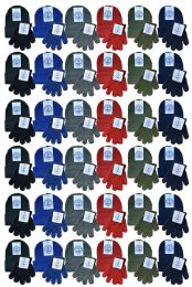 144 Bulk Yacht & Smith Wholesale Kids Beanie And Glove Sets Ages 2-8