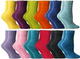 24 Units of Yacht & Smith Butter Soft Womens Cozy Fuzzy Socks, Sock Size 9-11 - Womens Fuzzy Socks