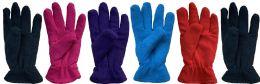 144 Bulk Yacht & Smith Women's Double Layer Heavy Fleece Gloves Bulk Buy