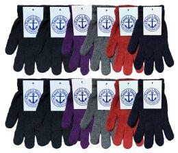 240 Bulk Yacht & Smith Women's Warm And Stretchy Winter Magic Gloves Bulk Buy